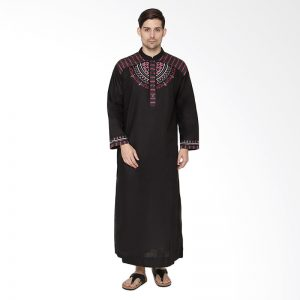 harga baju gamis pria dengan model biasa tanpa motif yang